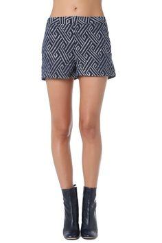 Navy blue geo printed shorts