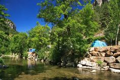 Camping Le Capelan. Meyrueis. Languedoc-Roussillon. France