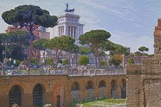 A View of Central #Rome in #Italy