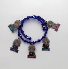 Hetalia Anime Charm Bracelet Starring America by ShishoDesigns