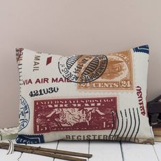 airmail cushion by grace & favour home | notonthehighstreet.com