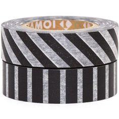mt Washi Masking Tape deco tape set 2pcs with stripes