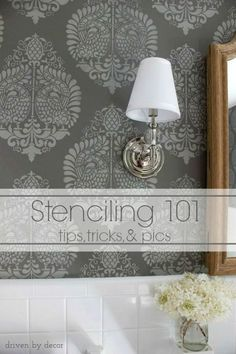 Stenciling 101 - Awesome how-to tutorial with tips, tricks, and pics!