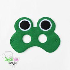 Frog Mask ITH Embroidery Design - Dejah Vue Designs