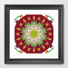 Daylily mandala 2 Framed Art Print by RVJ Designs - $32.00