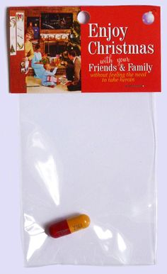 Enjoy Christmas with your friends and family without feeling the need to take heroin