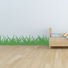 Grass Wall Decal - 10 inches tall - for O's woodland room