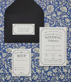 Vintage Type Wedding Invitation Bundle