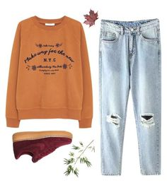 """""""N.Y.C."""" by h-carter on Polyvore featuring moda, MANGO, NIKE i Pier 1 Imports"""