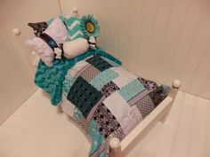Jade and Black patch work comforter with by sweetdreamzzz01, $30.00