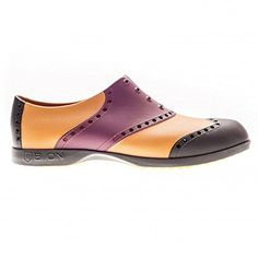 Biion Golf  Wingtip Golf Shoes Crimson RedBlackLeather 9 Ladies 11 >>> Want additional info? Click on the image.