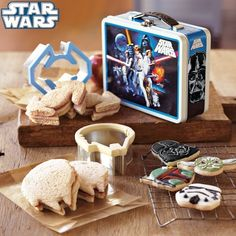 the Star Wars™ Sandwich Cutters with Vintage-Style Tin on Williams-Sonoma.com my husband would have loved this as a kid or maybe he still would love it ;)