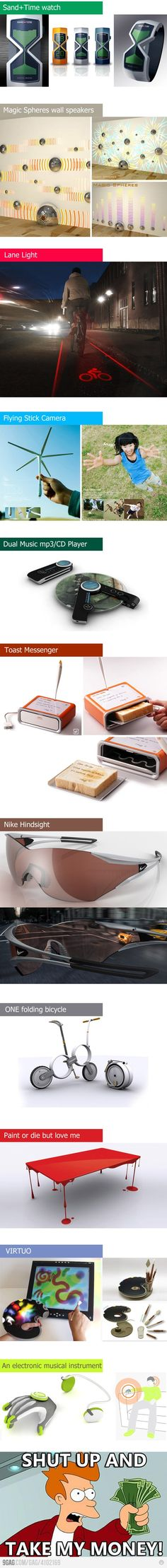 gadgets, shut up and take my money