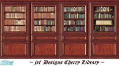 jsf Designs Cherry Library #Georgian #Regency #Victorian #cherry #library #TS2 #thesims2 #customcontent #cc