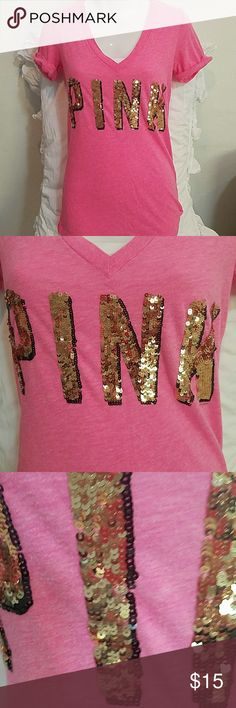 PINK Victoria's Secret bling short sleeve tee XS PINK Victoria's Secret bling short sleeve tee XS PINK Victoria's Secret Tops Tees - Short Sleeve