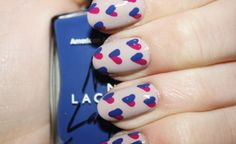 I HEART YOU nail art by Polish You Pretty. Click the photo for the full tutorial!