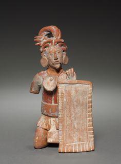 Warrior Figurine with Shield. Mexico, Classic Maya, Jaina style, 600-900