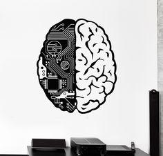 Brain Chip Engineer Compute Geek Artificial Vinyl Decal Sticker Wall Decor Home Interior Design Art Mural x Price history. Wall Decor Stickers, Vinyl Wall Decals, Computer Tattoo, Brain Logo, Mural Art, Artificial Intelligence, Images, Geek Stuff, Drawings