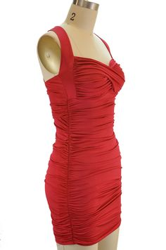 classic bombshell pinup dress - red