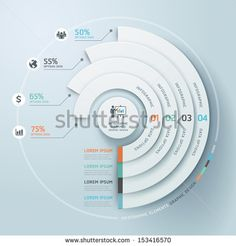 Business Infographics circle origami style Vector illustration. can be used for…