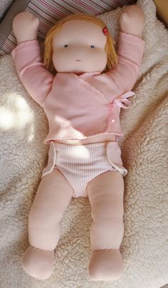 Sunny by Fabrique Romantique, via Flickr...chubby baby waldorf!!