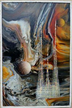 LEONARDO NIERMAN, OIL ON MASONITE,  SIGNED. #Abstract
