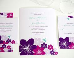 Tropical Hummingbird Wedding Invitations Collection
