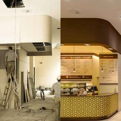 The Almost Before And After Of The Counter Of Yaz Flagship Restaurant In  Stuttgart