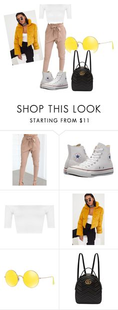 """Untitled #27"" by joliebarnes1 on Polyvore featuring WithChic, Converse, WearAll, Ray-Ban and Gucci"