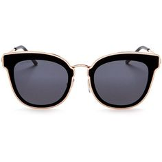 Designer Clothes, Shoes & Bags for Women Jimmy Choo Glasses, Eyewear, Sunglasses, Polyvore, Gold, Black, Outfit Ideas, Dress, Clothes