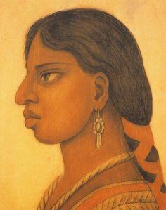 portrait of sra. evangeline rivas de iachica, diego rivera; 1949