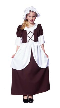 Child's Colonial Girl Halloween Costume (Size:Small « Clothing Impulse Funny Group Costumes, Girl Costumes, Costumes For Women, Children Costumes, Couple Costumes, Inexpensive Halloween Costumes, Fairy Halloween Costumes, Girl Halloween, Halloween 2013
