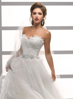 Eyelash Lace Sweetheart Snow Queen Wedding Gown Gracelyn - by Maggie Sottero