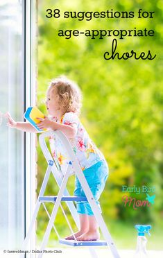 You probably already know you want your kids to learn how to do chores. But if you're wondering where to start or what chores are age appropriate for your child, take a look at this list. Also includes suggestions on how to teach your kids to work.