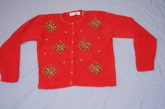 Vintage 1980s - Christmas Sweater by TheMercerStreetHouse on Etsy