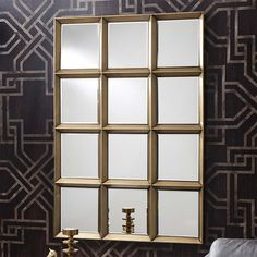 Banbury gold window mirror style finished in gold Window Mirror, Metal Mirror, Wall Mirror, Gold Mirrors, Mirror Words, Light And Space, Window Design, Bronze Finish, Discount Designer