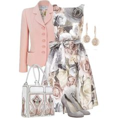 Grey & Pink by yasminasdream on Polyvore featuring Christian Dior, Philosophy di Alberta Ferretti, BUBA and Ileana Makri