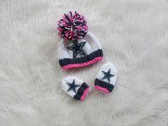Dallas Cowboys Baby Girl Beanie Hat in Stark by babylacenfrills, $22.00