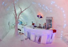 Built each winter on the shores of Romania's glacial Balea Lake, in the majestic Fagaras Mountains of Transylvania, Romania's Hotel of Ice combines spectacular accommodation with tremendous winter activities.