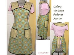 Vintage+Apron+Patterns+Free | 40s STYLE FULL APRONS- vintage-style aprons, in vintage sizes!