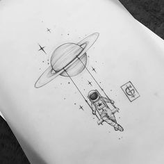 Topic ○ The sky is a neighborhood. ● Arte reservada -You can find Dessin au crayon and more on our website.Topic ○ The sky is a neighborhood. Space Drawings, Pencil Art Drawings, Cool Art Drawings, Doodle Drawings, Art Drawings Sketches, Easy Drawings, Doodle Art, Tattoo Drawings, Tattoos