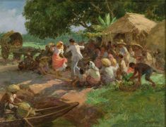 """Fernando Amorsolo y Cueto, Filipino painter, was an important influence on contemporary Filipino art and artists, even beyond the so-called """"Amorsolo school"""". Subjects: Philippine Genre, historical and society Portraits. Philippine Mythology, Philippine Art, Filipino Art, Filipino Culture, Manila, Historical Art, Album, Artists Like, Landscape Art"""