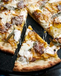 Squash, Leek & Bacon Pizza