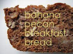 make happy: banana pecan breakfast bread