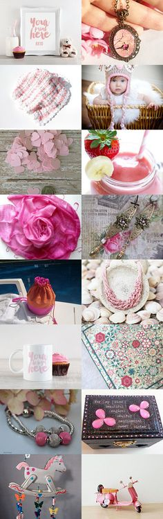 Think Pink by Sissy Atsidakou on Etsy--Pinned+with+TreasuryPin.com