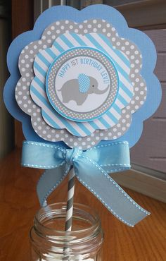 NEW  Elephant Centerpiece 3 Layer by mlf465 on Etsy