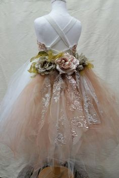 Gorgeous Tutu Dress Fully lined with corset bodice laces up in the back for easy size adjustments. You can give a special touch with a georgeous tail that makes your dress be special and unique. Flower Girl Tutu, Wedding Flower Girl Dresses, Bridesmaid Flowers, Little Girl Dresses, Wedding Flowers, Bridesmaid Dresses, Flower Girls, Dress Wedding, Vintage Flower Girl Dresses