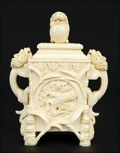 A Chinese Carved Ivory Box. : Lot 1703121