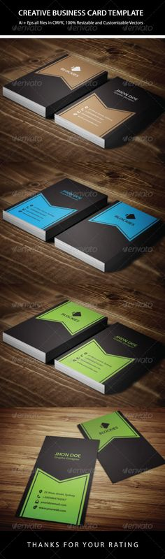 3  Colors Creative Business Card