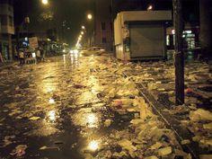 Lixo na Cinelândia         Foto: Coluna Zero